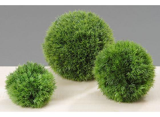 Trávová Guľa 23 Cm - zelená, Konvenčný, plast (23cm) - Ambia Home
