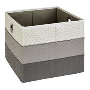 Regalkorb Dana - Weiß/Grau, Basics, Kunststoff/Textil (30/30/26,5cm) - Ombra