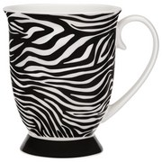 Jumbotasse Afrika - Schwarz/Weiß, MODERN, Keramik (8.5/11cm) - Luca Bessoni