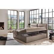 Boxspringbett mit Topper & Bettkasten 180x200cm Mercura - Beige, MODERN, Holzwerkstoff/Textil (180/200cm)