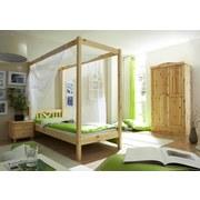 Himmelbett Echtholz 90x200 Laluna, Kieferfarben - Kieferfarben, ROMANTIK / LANDHAUS, Holz (90/200cm) - Livetastic
