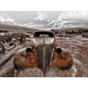 Keilrahmenbild Lost Car - Rostfarben/Braun, Basics, Holzwerkstoff (77/57/2cm)