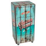 Kommode Auf Rollen B 40cm Summer Tropical, Türkis - Multicolor/Schwarz, Basics, Holzwerkstoff (40/85/34cm)