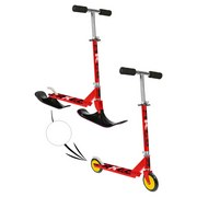 Schneeflitzer Snow Scooter 2-in-1 - Rot, MODERN, Metall (72/33/86cm)