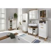 Hochschrank Padua B: 40,4 cm Weiß - Eichefarben/Weiß, MODERN, Holzwerkstoff (40,4/178,5/35,0cm) - MID.YOU