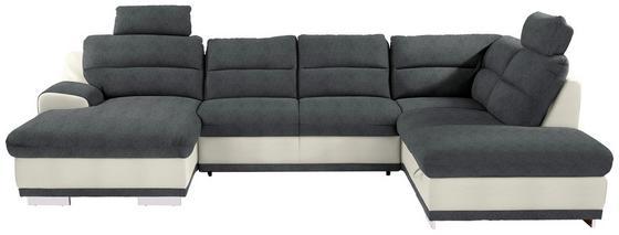 Sedací Souprava Seaside - bílá/šedá, Moderní, textil (165/334/218cm) - Luca Bessoni
