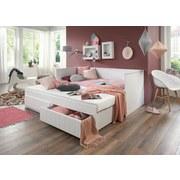 Posteľ Timmi - biela, Konvenčný, drevený materiál/drevo (205/99-189/80cm)