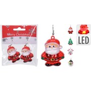Ohrring mit Led Weihnachtlich - Multicolor, Basics, Kunststoff (4/4/4cm)