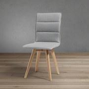 Jedálenská Stolička Tim - světle šedá/barvy buku, Moderní, dřevo/textil (43/88/53,5cm) - Modern Living