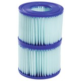 Filterkartusche für Lay-Z-Spa Größe 6 2er Set 58477 - Blau/Weiß, MODERN, Kunststoff (10,6/8cm) - Bestway