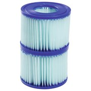 Pool-filterkartusche Anti-microbial (vi) Größe 6 - Blau/Weiß, MODERN, Kunststoff (10,6/8cm) - Bestway