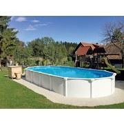 Schwimmbecken Ov 132 Weiß - Weiß, Basics, Kunststoff (730/370/130cm)