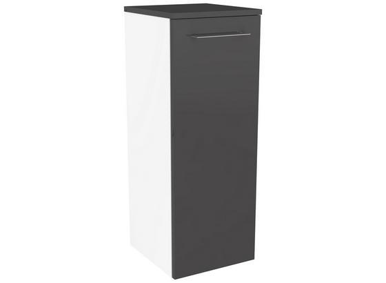 Midischrank Lima B:31cm Weiss/Grau - Weiß/Grau, MODERN, Holzwerkstoff (30,5/81/32cm) - Fackelmann