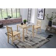 Tischgruppe Emil - Kieferfarben, Basics, Holz (70/73/70cm) - Carryhome