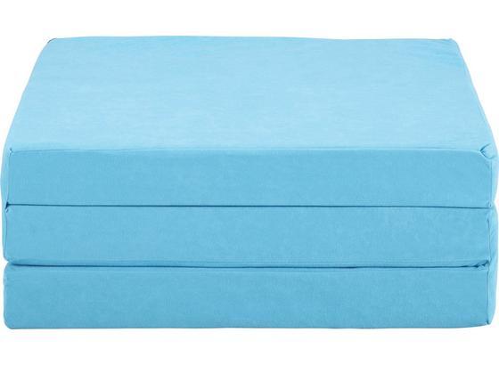 Rozkládací Matrace Basic - světle modrá, Konvenční, textil (189/65/8cm)