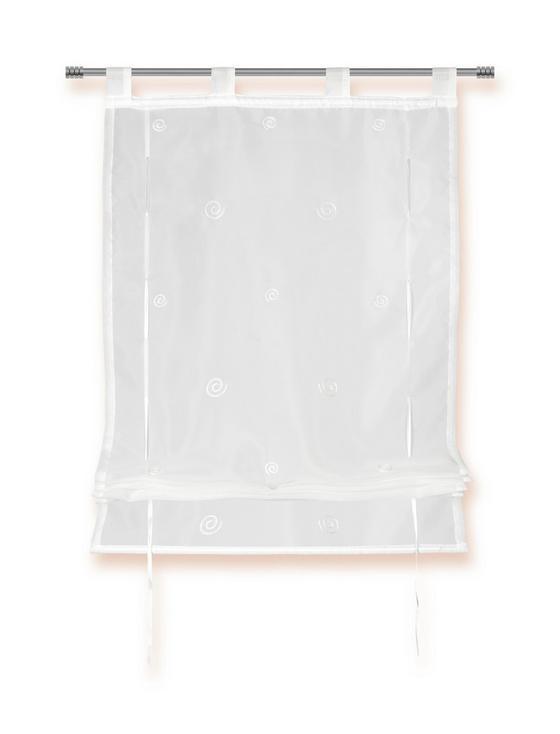 Raffrollo Maria - Weiß, KONVENTIONELL, Textil (60/140cm) - Ombra