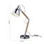 Stolová Lampa Florina - Moderný, kov/drevo (13/45cm) - Modern Living