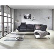 Wohnlandschaft City ca. 281x203 cm Grau/Weiß - Silberfarben/Weiß, MODERN, Holz/Textil (281/203cm) - Luca Bessoni