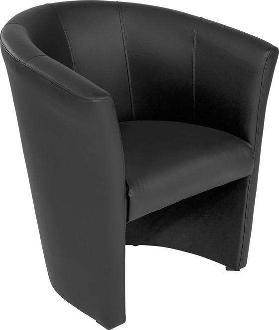 Křeslo Hugo - černá, Basics, textilie (69/76/59cm) - Ombra