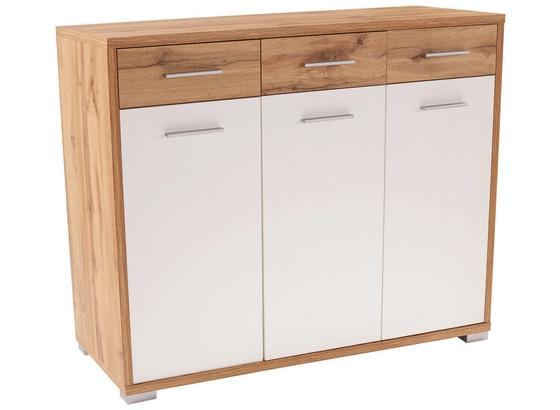 Komoda Q-big Qbk01 - bílá/barvy dubu, Moderní, dřevo (144/105/44cm)