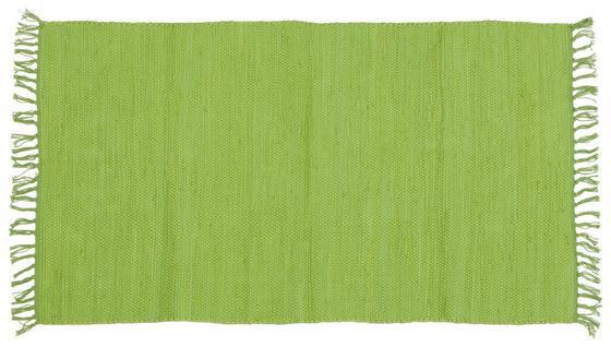 Handwebteppich Annika 70x120 cm - Dunkelgrün, KONVENTIONELL, Textil (70/120cm) - Ombra