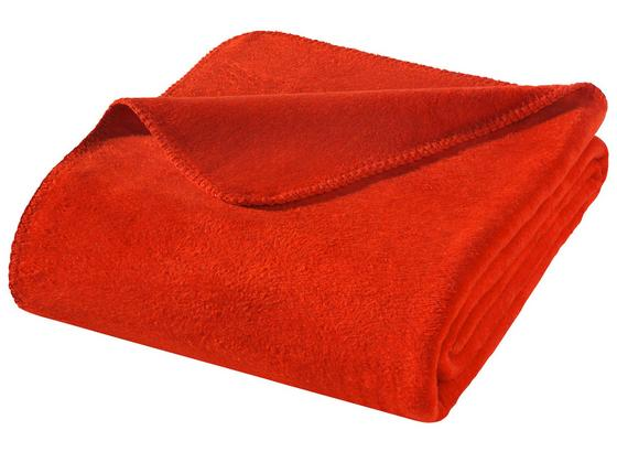 Wohndecke Hani 150x200 cm - Rot, MODERN, Textil (150/200cm)