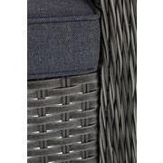 Loungegarnitur Bibione - Braun/Grau, MODERN, Kunststoff/Textil - LUCA BESSONI
