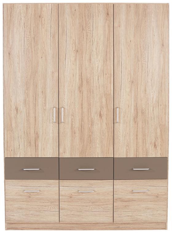 Kleiderschrank Aalen Extra, 136cm - Grau, KONVENTIONELL, Holzwerkstoff (136/197/54cm)