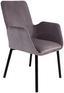 Stuhl Lounge Grau - Schwarz/Grau, MODERN, Textil/Metall (59,5/88,5/60,5cm) - Ombra