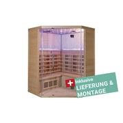 Infrarotkabine Oslo inkl. Lieferung & Montage - Naturfarben, MODERN, Holz (150/200/65cm)