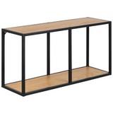 Wandregal Seaford B: 72,5 cm Eichefarben - Eichefarben/Schwarz, Trend, Holzwerkstoff/Metall (72,5/37/24cm) - Carryhome