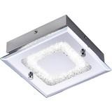 LED-Deckenleuchte Lisa - Chromfarben, KONVENTIONELL, Metall (18/18/5,8cm) - LUCA BESSONI