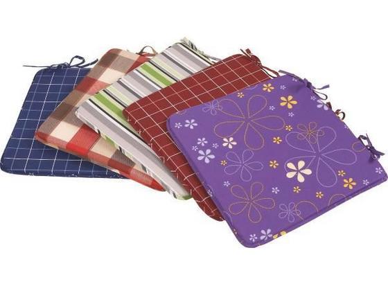 Stuhlkissen In Verschiedenen Designs 36x36 cm - KONVENTIONELL, Textil (36/36/2.5cm) - Ombra