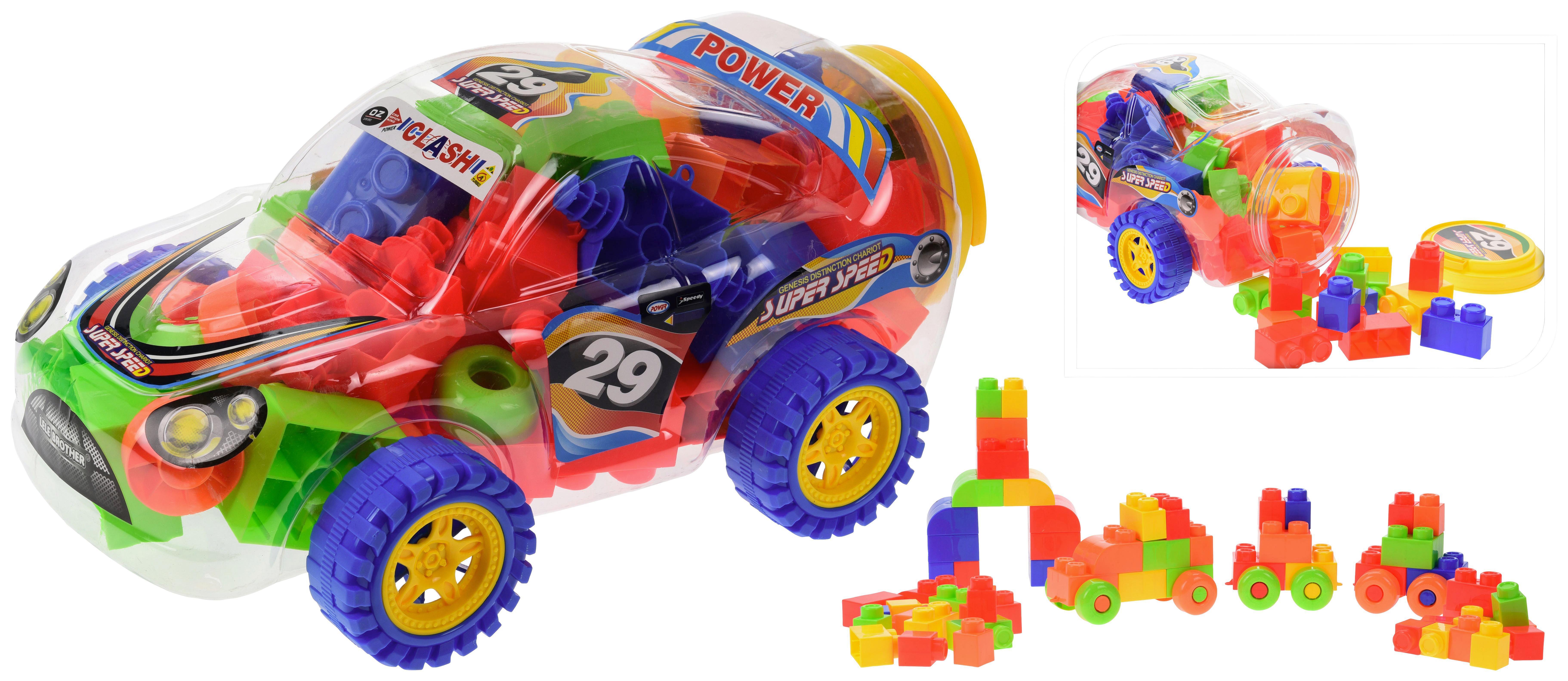 Bausteine Feuerwehr Station Spielzeug Steckbausteine Steine Auto 69 tlg ab 3j Kleinkindspielzeug