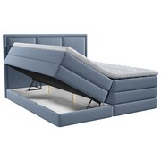 Boxspringbett mit Topper Swing 140x200 cm Blau - Blau, Design, Holzwerkstoff/Textil (140/200cm) - Xora