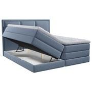 Boxspringbett mit Topper Swing 180x200 cm Blau - Blau, Design, Textil (180/200cm) - Xora