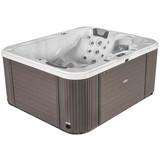 Outdoor Whirlpool Asti - Weiß, MODERN, Holz/Keramik (211/90/170cm)