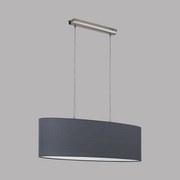 Hängeleuchte Pasteri - Grau/Nickelfarben, MODERN, Textil/Metall (75/22/110cm)