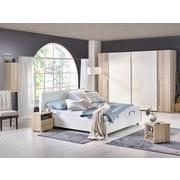 Skříň S Posuvnými Dveřmi Joker - bílá/barvy dubu, Konvenční, dřevo (270/225/61cm)