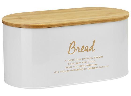 Box Na Chleba Fiona - bílá/měděné barvy, Lifestyle, kov/dřevo (34/18/15cm) - Zandiara