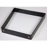 Tischgestell V-Form B 70cm H 71cm, Schwarz - Schwarz, Basics, Metall (70/71cm)