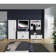 Garderobenkombination Provence 1 - Wengefarben/Weiß, MODERN, Holzwerkstoff (303/200/42cm) - James Wood