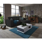 Sedací Souprava Tommy - šedá/černá, Lifestyle, dřevo/textil (265/167cm) - Luca Bessoni