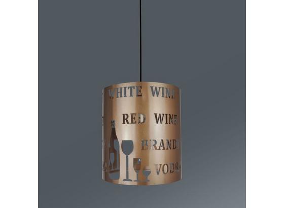 Závesná Lampa Kate - šampanská, Štýlový, umelá hmota/kov (23/130cm) - Mömax modern living