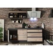 Küchenleerblock Less inkl. Blockelement - Eichefarben/Anthrazit, MODERN, Holzwerkstoff (210+150/190/60cm) - Xora