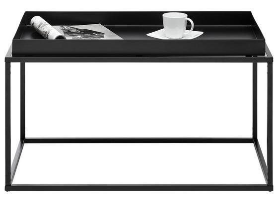 Odkladací Stolík Club Ny - čierna, Moderný, kov (80/45/45cm)