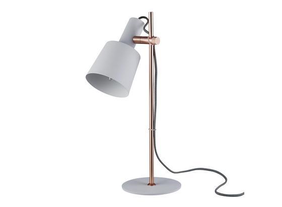 Stolní Lampa Emilia - bílá/měděné barvy, Moderní, kov (22/16/46cm) - Modern Living