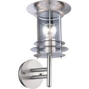 Led Außenleuchte Miami 60 Watt Edelstahl - KONVENTIONELL, Kunststoff/Metall (20/35cm)