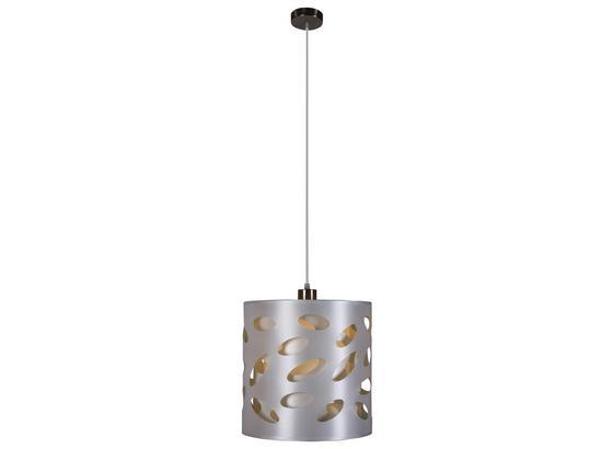 Hängeleuchte Dagmar - Silberfarben/Weiß, MODERN, Kunststoff/Textil (30/120cm) - Luca Bessoni