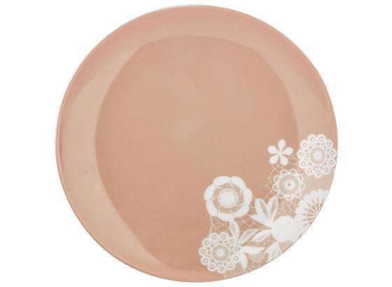 Talíř Dezertní Lacey - růžová, Romantický / Rustikální, keramika (20cm) - Mömax modern living